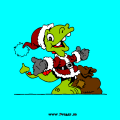 Santa Claus dragon - Sarah, 9