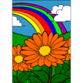 flowers rainbow nature - Elin, 17