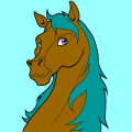Aqua And Brown Horse - Meja Dalhgren, 8